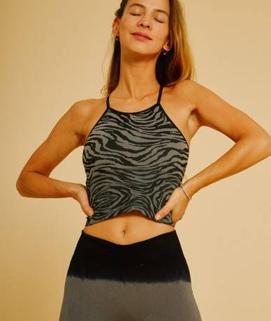 AVIRATI - Crop Top Jacquard...